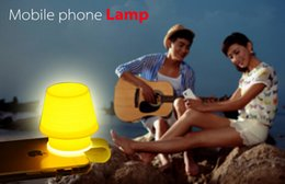 New arrival Silicone Lampshade Design Mobile Phone Support Bedroom Atmosphere Lamp Phone Holder Night Light Case As Bookmark