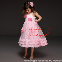 Pettigirl Summer Fashion Girl Dresses Baby Pink Cotton Top With Gauze Rose Hem And Flower Corsage Kids Princess Dress GD40209-5