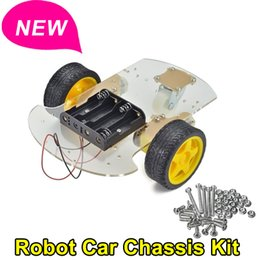 Wholesale Popular Brand New Motor Smart Robot Car Chassis Kit Speed Encoder Battery Box For Arduino