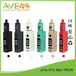 2016 gros joyetech Nouveau 100% original 2015 Kit Joyetech eVic VTC Mini blanc / noir / cyan / or / gris / rouge kit électrique cigarete