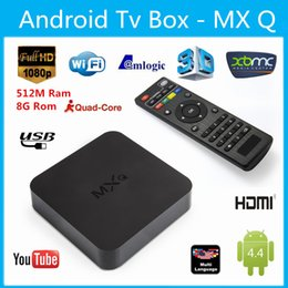 Wholesale USA Stock MXG MXS MXQ Support Online Update By Itself Kodi MX MXQ TV BOX Amlogic S805 Quad Core G Android K Video KODI14