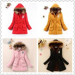 Plus de couleurs Trench Epaississants chaudes Vestes Fur Collar Down Parka Plus Size Women New Women Parka Womens Hoodies Parkas pour les femmes d'hiver à partir de hoodie de la fourrure pour les femmes fabricateur