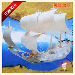 Wholesale-Scale Goteborg Ship Model Wood Educational Toys Sailing Boat 3D Puzzle Assembling Miniature DIY