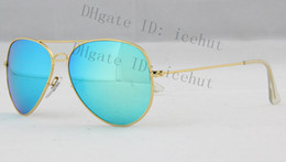 Wholesale Pilot Flash Lenses sun glass Metal Classic Retro Men s Women Polarized Sunglasses