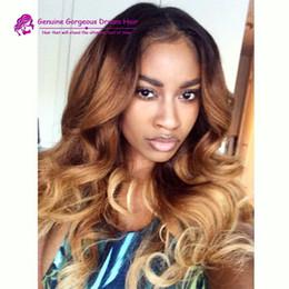 Ombre Color Brazilian Human Hair Glueless Lace Front Wigs  Wavy Ombre Full Lace Human Hair Wigs For Black Women Middle part