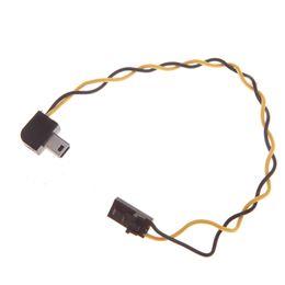 Descuento usb gopro 22 AWG silicio alambre USB de 90 grados Conector de salida AV Video Cable FPV para GoPro Hero 3 orden de las pistas $ 18Nadie