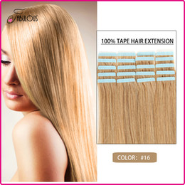 Wholesale 16-24inch Skin Weft Hair Extensions Tape Remy Human Hair Extension 20color available Brazilian Virgin Hair Color #16