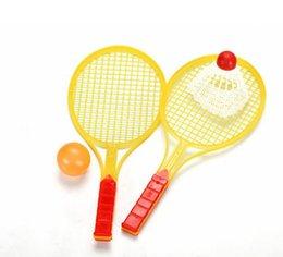 Regalos promocionales por mayor-padre-hijo Juguetes Tenis Juguetes 2 raquetas y una pelota de 27.5 * 12CM 5Set desde juguete de la raqueta de tenis fabricantes
