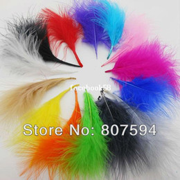 Wholesale 200 pcs Lot Turkey Marabou Feathers washed goose down 8-16 cm Fluffy Dress jewelry Christmas Halloween decoration