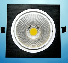 30pcs lot 7W Dimmable COB LED Recessed Ceiling Down light Warm White White Cool White COB Led light AC85-2