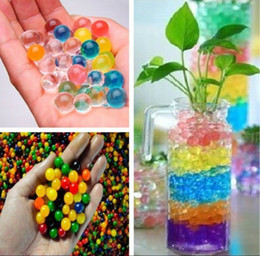 Wholesale Water Pearl Beads colors your pick Crystal Soil Mud Magic Plant Jelly Water absorbing crystal polymer soil