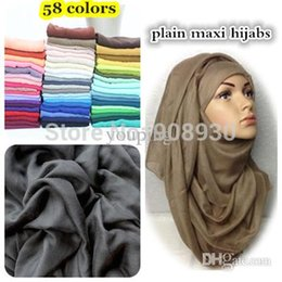 Wholesale Large plain maxi hijabs muslim viscose solid heard scarf shawl sarong mix colors