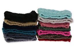 Wholesale New Arrive Colors Flower Crochet Knit Knitted Head wrap Headband Ear Warmer Hair Muffs Band Winter