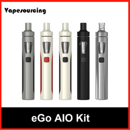 Wholesale Joyetech EGo AIO Quick Start Kit All in one Style Device with With mAh Battery BF SS316 Coil ml Capacity e Liquid illumination LED