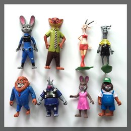 Prettybaby Wholesale 8 designs Movie Zootopia Cartoon Utopia Action Figure toy Movie Models 10-15cm Nick Fox Judy Rabbit Dolls