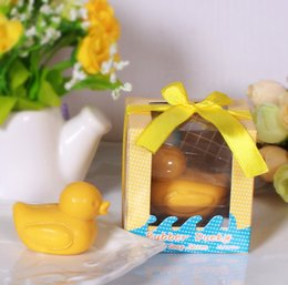 Wholesale Hot Gift Box Wedding Favors Cute Duck Soap Craft Guest Gifts Toilet Soap Baby Shower Favors Wedding Supplies