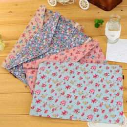 Wholesale Fashion Sweet Floral Lace Series Fabric File Cloth A4 Bag Document Bags Stationery office Documents Pouch Pocket