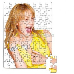 Wholesale A5 DIY Sublimation Puzzles blank pearl Jigsaw DHL Fedex