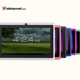Couleur dual quad à vendre-Gros-ALLDAYMALL A88X 7 pouces Android4.4 Tablet PC Allwinner Quad Core double caméra externe 3G / Wifi 8Go écran HD 1024x600 ROM Couleur
