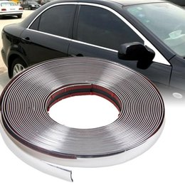 Wholesale 15M mm Car Auto Chrome DIY Moulding Trim Strip For Window Bumper Grille Silver LY639