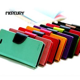Vente en gros Portefeuille Mercury cuir PU Hybrid Case Folio Flip Housse pour Samsung Galaxy s3 s4 s5 s6 Edge Note Mini 3 4 5 7 cheap mercury case s4 à partir de mercure cas s4 fournisseurs