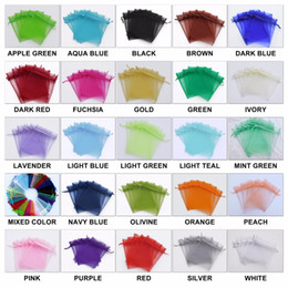 500pcs Mixed Organza Wedding Favor Gift Candy Sheer Bags Jewelry Pouch 7X9CM
