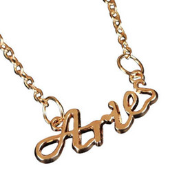 Fashion jewelry 12 zodiac signs pendants South Korea alphabetic lady Chokers sweater collarbone chain necklaces