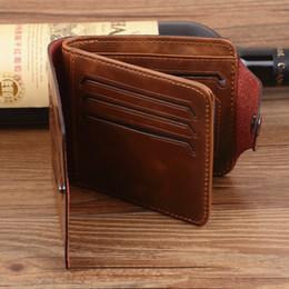Wholesale Vintage Mens High Quality Short Leather Wallet Pockets Card Clutch Cente Bifold Purse QB018