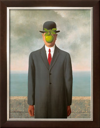 Wholesale The Son of Man oil painting reproduction of Rene Magritte Painting High quality Canvas art Landscape Hand painted