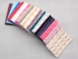 Wholesale Ladies row Hooks Bra Strap Long Extender Hook Clip Nude Adjustable Belt Buckle Color Optional individual package a808