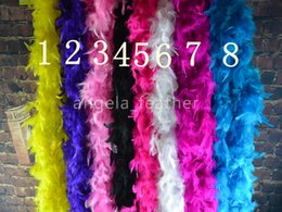 Wholesale-free shipping 200cm 20pcs a lot Turkey Feather Boa Strip for Wedding Marabou Feather Boa Scarf 14 Colors