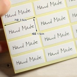 White Hand made stickers, packaging labels,Envelope Seals