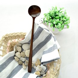 Wholesale MUXING Long handle Spoons cm Miso Soup Stirring Spoons Nanmu Sauce Spoon Wooden Cooking Tools MOQ piece