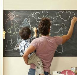 PVC Waterproof environmental blackboard stickers Vinyl Chalkboard Wall Stickers Removable Blackboard Decals Great Gift for Kids 45CMx200CM