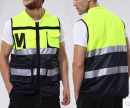 night clothes motorcycle Canada - Wholesale-Motorcycle Vest Visibility Night Safety Motorbike Reflective clothes Fluorescent yellow Breathable Protection Racing