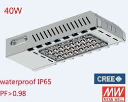 Wholesale 40W LED Street Light road light led garden light Meanwell driver CREE chip lm degree angle years warranty DHL