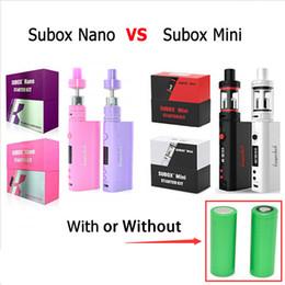 Clone Kangertech Subox Mini Subox Nano Starter Kit with subtank mini v2 subtank nano s OCC RBA atomizers kanger sub with 18650 battery