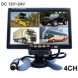 Wholesale TOP CCTV DC V V quot LCD Car Parking Monitor With CH Video input Monitors Quad Split Screen Mode Display For Truck Caravan Vans