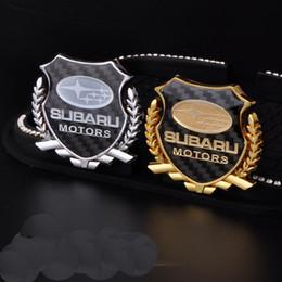 Wholesale 2Pcs Refinement D logo Emblem Badge Graphics Decal Car Sticker SUBARU