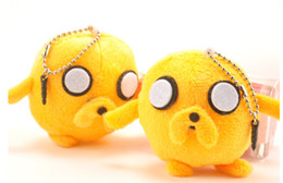 Wholesale Anime Adventure Time Jake Plush Toy Stuffed Doll With Ring Plush Pendant PP cotton plush Toy children s toy and gifts