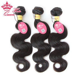"""Queen Hair Mixed Size 3pcs Best Quality Peruvian Virgin Hair Extension Body Wave Machine Weft 12""""-28'' Promotion DHL Fast Free Shipping"""
