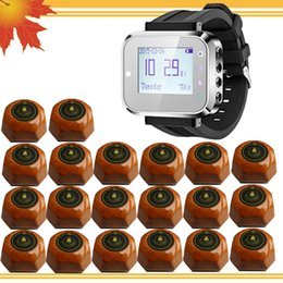 One Watch Pager with 20 Call Buttons Wrist watch Waiter Service Calling System Electronic Restaurant Wireless Waiter Call System