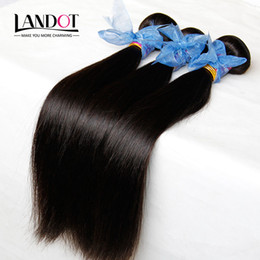 peut teindre les extensions de cheveux remy Promotion 3Pcs Lot Philippine Virgin Hair Straight Unprocessed Virgin Filipino Extensions de cheveux Cheap Remy Human Hair Weaves Bundles Tangle Free Can Dye