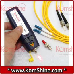 Wholesale mw km Fiber Optic Visual Fault Locator KomShine KFL Fiber Break Checker VFL OTDR Tester FOR FC SC ST and LC Connector