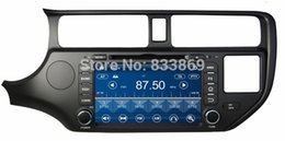 Wholesale HD din quot Car Radio DVD Player for Kia K3 Rio With GPS Navigation G DVR Bluetooth IPOD TV SWC AUX IN Car DVD