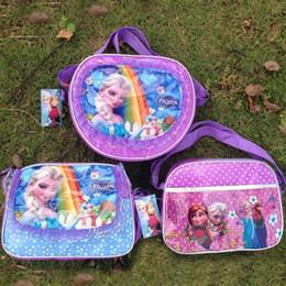 Frozen Satchel Bags Bags Elsa Anna Satchel Bags Fashion Bag Kids Backpack Handbags Children Backpacks Girls Single Shoulder Bags 30pcs