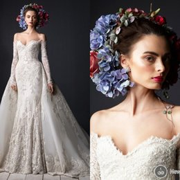 2015 Vintage Lace Wedding Dresses with Extra Chapel Train Custom Made Sweetheart Long Sleeves Sexy Country Wedding Dress Sexy Bridal Dresses