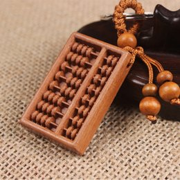 Wholesale New Arrive handmade Wooden Keychain Pendant Abacus Car keychain Nice Toy Jewelry Accessories Gift Keyring
