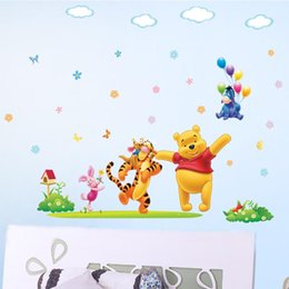 Wholesale bedroom decoration The new stickers children s room bedroom Winnie the Pooh cartoon baby removable wall stickers wall decals DLX131L