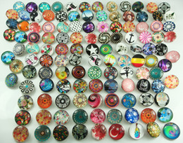 Wholesale hot selling mixes beautiful Alloy Lampwork Chunk Snap Button charm fit NOOSA bracelet diy charm Jewelry Accessories mm H1